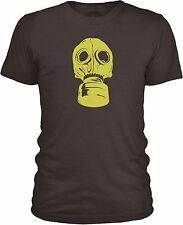 Gas Mask Mens Combed Cotton T-Shirt