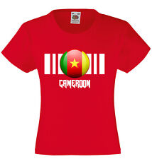 Unisex Kids Cameroon Flag T-Shirt On Fruit of the Loom VWeight tshirt-12 Colours