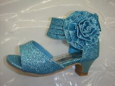 Girls Lucky Top Dressy Sandals in Teal