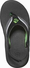 -Boys summer shoes  Reef flip flops size 8-12 junior 1-4 youth solid rubber sole