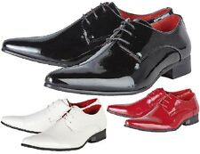 MENS SMART WEDDING SHOES ITALIAN FORMAL OFFICE CASUAL PARTY DRESS BOYS SIZE