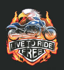 Biker Eagle Live to Ride Free motorcycle Chopper Bike T-Shirt M - 3XL