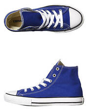 New Converse Boys Kids Chuck Taylor All Star Hi Shoe Canvas Shoes Blue