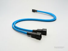 Fan 3pin to 2 x 3pin Y Cable Splitter - Sleeved - COLONIAL BLUE
