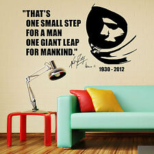 NEIL ARMSTRONG FIRST MAN ON THE MOON QUOTE  vinyl wall art sticker decal