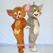 【SALE】 NEW TOM and JERRY MASCOT COSTUME ADULT SIZE CAT and MOUSE HALLOWEEN DRESS