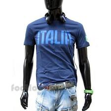 Men's T-Shirt Puma Graphic Tee 745185 03 Navy Italy Soccer World Cup 2014 Brazil