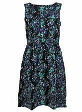 BRAND NEW LADIES EX CHAINSTORE  FLORAL PRINT SLEEVELESS TUNIC DRESS SIZE 8-18