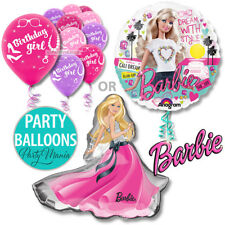 BARBIE GIRLS BIRTHDAY PARTY SUPPLIES DECORATIONS FOIL OR LATEX BALLOONS