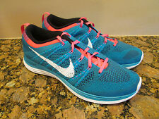 Nike Mens Flyknit One 1+ Lunarlon Running Shoes 554887 414 Turquoise sz 10.5 11