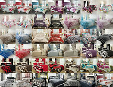 Duvet Quilt Cover Bedding Set And Pillow Case Single Double King Super King