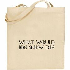 GAME OF THRONES - WHAT WOULD JON SNOW DO  COTTON TOTE SHOPPING BAG
