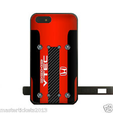 JDM Honda DOHC Vtec Red Gloss Snap On Case for iPhone 4 4S 5 5S 5C 6 6+