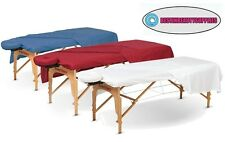 3 Pieces Set Poly Cotton Blend Gym SPA Therapy Massage Tables Flannel Sheets