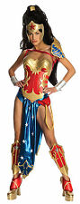 New Sexy Anime Wonder Woman Costume Licensed Adult Fancy Dress