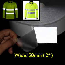 Safety Silver Reflective Tape Iron On Heat Transfer Vinyl Tape 50mm 2""