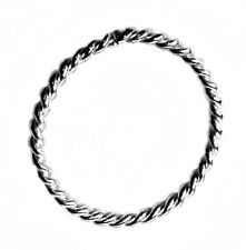 14K White Gold Twisted Seamless Ring Full Circle Choose Your Size Body Greed
