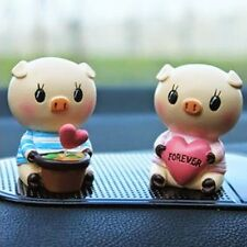 Autmotive Interior Resin Lovely Couple Pig Car Decoration Cute Small Doll