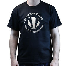Save The Badger Cull MPs Protest Green Peace Mens Womens Kids T-shirt