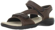 Clarks Women's Rise Casual Sandal - Leather - Dark Brown