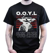 Yoda You Only Live Once, You Live YOLO OOYL T-shirt Star and Wars Episode 7 VII