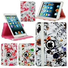 Floral Print Rotating Smart Case for Apple iPad Mini & Mini with Retina Display