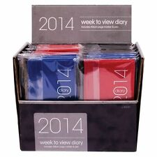 NEW CHEAP 2014 SLIM WEEK VIEW DIARY & PEN SET BLACK RED BLUE