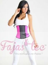 Pink Corset Waist Cincher Girdle Training body Shaper Latex Faja Workout Gym