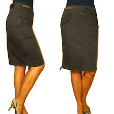 Moschino Jeans Pencil Skirt Flap Pocket Zipper Hem Stretch Twill IT44/US 4-6 NWD
