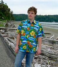 Mens Hawaiian Shirt / Aloha Shirt :: Mariana Beach