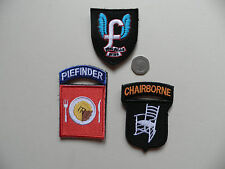 Special Force Morale Patches. Piefinder - Chairborne - Who Sells Wins.