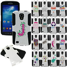 For Samsung Galaxy S4 Active i537 At&t Phone Rubber Mesh Case Cover Hybrid