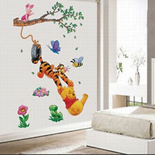 Disney Winnie Pooh Playing Home Room Wall Window Decals Stickers Decor Removable