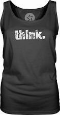 Think (White) Womens Singlet Tank-Top T-Shirt