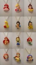 "Princess Belle Aurora Ariel Sofia Cinderella Snow White Pendant 18"" Necklace"