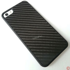 Luxury Hybrid 100% Real 3D Carbon Fiber Rubberized Bumper Case for iPhone 5 5S