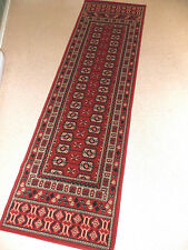 Traditional Red & Beige Square Design Hall Runner / Carpet / Rug Come in 2 Sizes