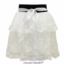 Ladies Womens Lolita Layered Lace Msh Tutu Dancing Girls Petticoat Mini Skirt