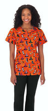 Bio Women Halloween Scrub top Style 5891-452 (If The Shoe Fits) Size XXS to 5X