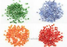 1000pcs 3x2mm Czech Glass Mini Tube Shaped Spacer Beads Fit Jewelry Making