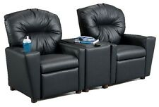 Brazil Furniture Children's Home Theater Recliner Set with Storage Console