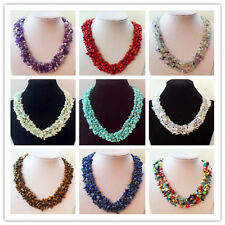Wholesale 1 Strand Mixed Stone Chip Necklace 17.5 inch Y0277