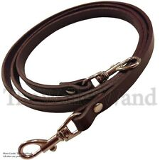 "3/8"" Brown Top Grain Leather Skinny Cross Body Replacement Handbag Purse Strap"