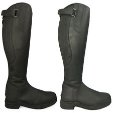 HKM Country Leather Long Riding Yard Mucking Out Waterproof Boots Black Brown