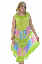New Womens Dress Ladies Skirt Cotton 2 in 1 Gypsy Beach Summer One Size Nouvelle