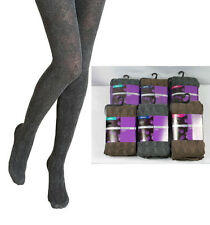 M&S Ladies Argyle Wool Tights  sizes Small  Medium  Large Grey