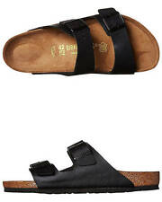 New Birkenstock Women's Womens Arizona Sandal Leather Shoes Black