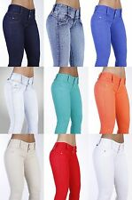 Curvify 764 Women's Butt Lift Skinny Jeans. High Rise Brazilian Style