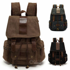 Vintage Retro Canvas Backpack Sport Rucksack Military Satchel Hiking School Bag