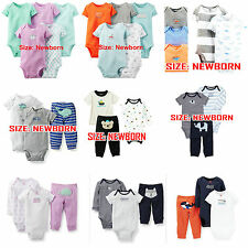 Newborn,2015 Carter's Bebe Boys and Girls Tee Clothing Sets Rompers bodysuits